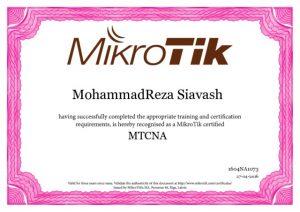گواهینامه بین المللی میکروتیک-MTCNA